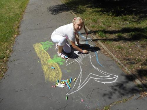 Svetový deň morí aoceánov - kreslenie naasfalt - 6